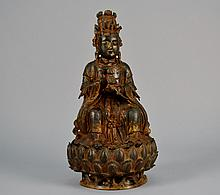 Chinese  and  Bronze Gilted Buddha on Stand 16