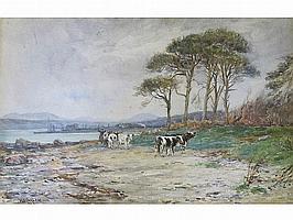 WILLIAM CARLAW RSW (1847-1889) Watercolour coastal