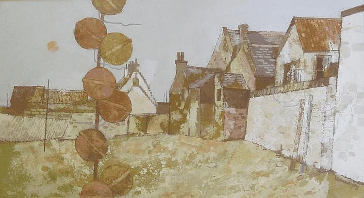 • LEONARD GRAY RSW (b.1925) FLOATS AND SEA WALL