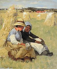 THOMAS AUSTEN BROWN (1859-1924) FIELD WORKERS