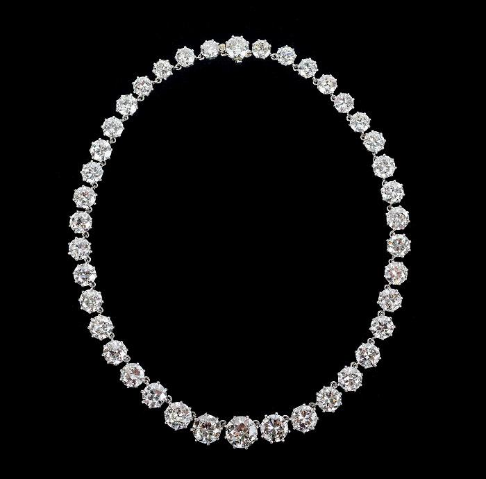 PLATINUM AND DIAMOND RIVIÈRE NECKLACE, Van Cleef & Arpels