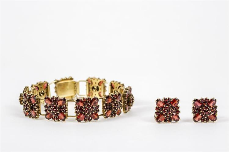 14K YELLOW GOLD AND GARNET SUITE