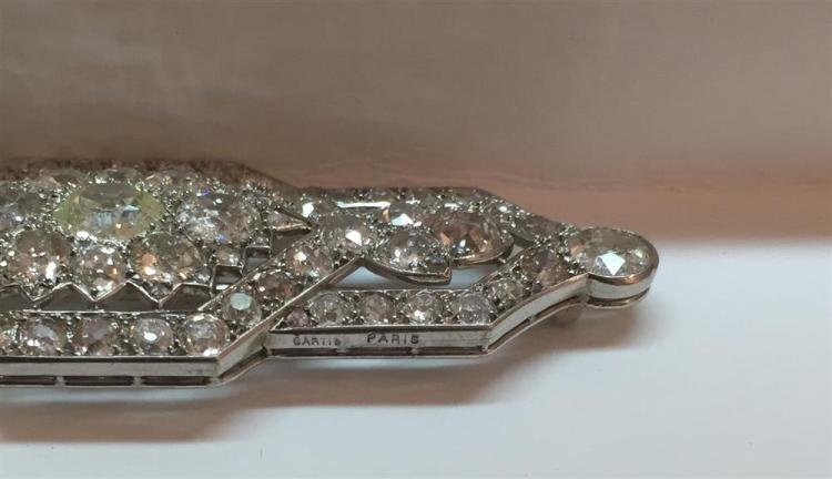 PLATINUM AND DIAMOND BROOCH, Cartier