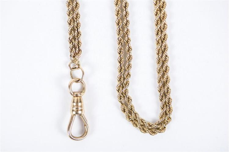 14K YELLOW GOLD AND TURQUOISE LONGCHAIN