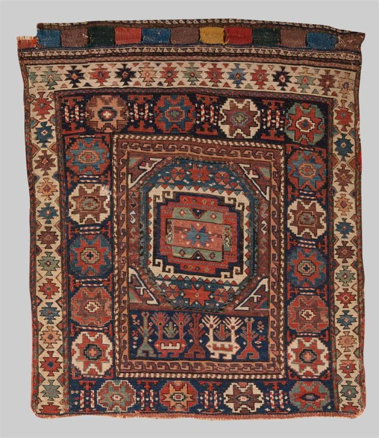 SOUMAC BAG FACE, Caucasus, late 19th century; 2 ft. 6 in. x 2 ft. 1 in.