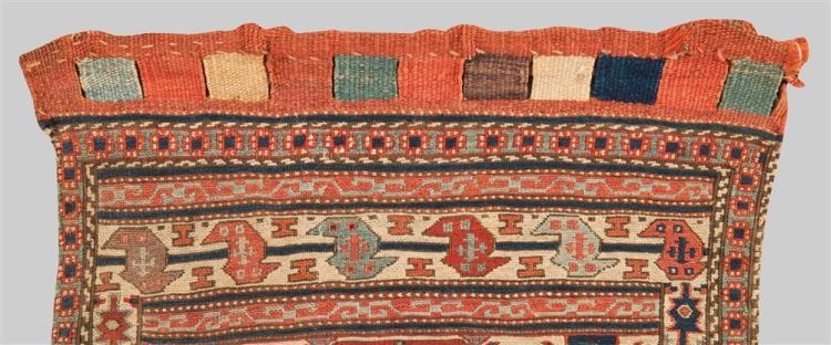SOUMAC BAG FACE, Caucasus, late 19th century; 1 ft. 10 in. x 1 ft. 8 in.