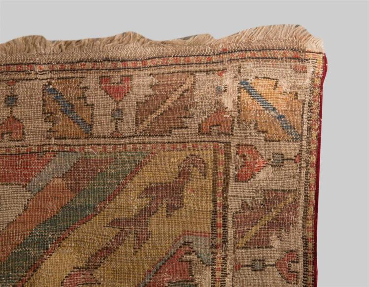 CAUCASIAN BLOSSOM CARPET FRAGMENT, 17th/18th century; 7 ft. 8 in. x 6 ft. 10 in.
