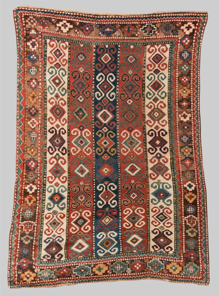 KAZAK RUG, Caucasus, mid 19th century; 6 ft. 8 in. x 4 ft. 10 in.
