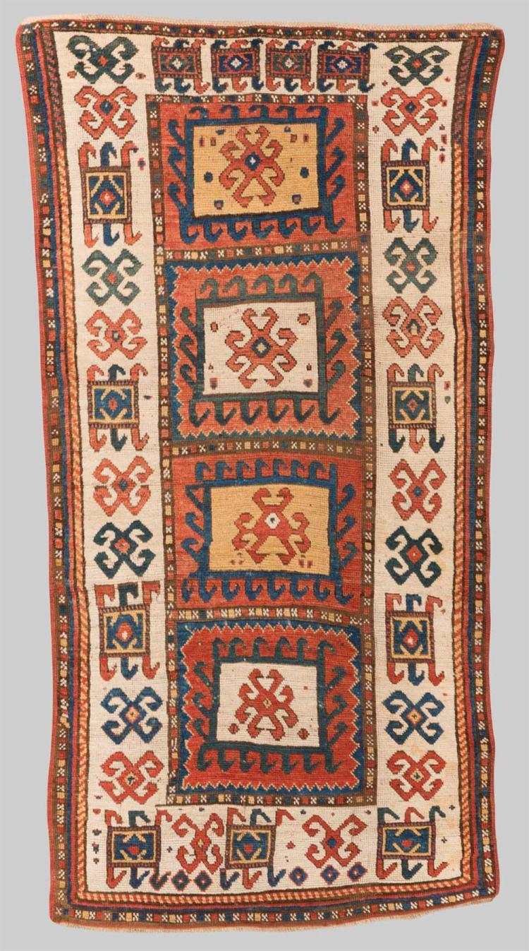 KAZAK RUG, Caucasus, mid 19th century; 7 ft. 2 in. x 3 ft. 6 in.