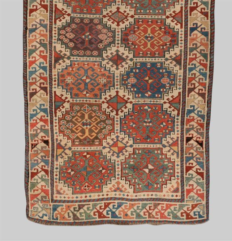 MOGHAN RUG, Caucasus, second half 19th century; 8 ft. 6 in. x 3 ft. 6 in.
