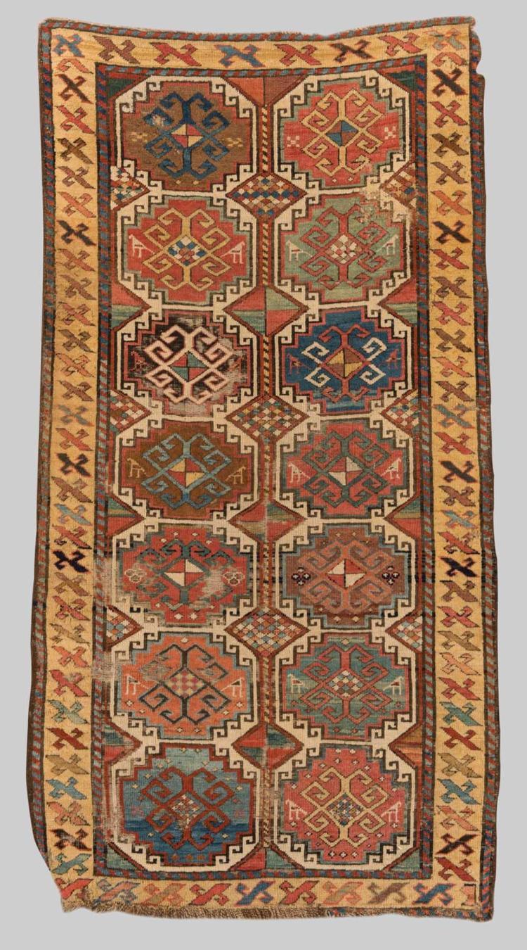 MOGHAN RUG, Caucasus, mid 19th century; 6 ft. 1 in. x 3 ft. 3 in.