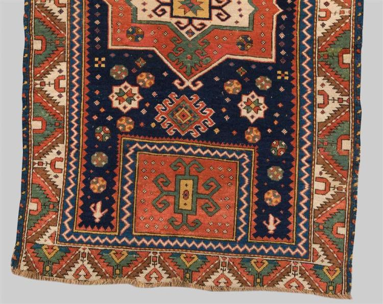 FACHRALO KAZAK PRAYER RUG, Caucasus, mid 19th century; 5 ft. x 3 ft. 5 in.