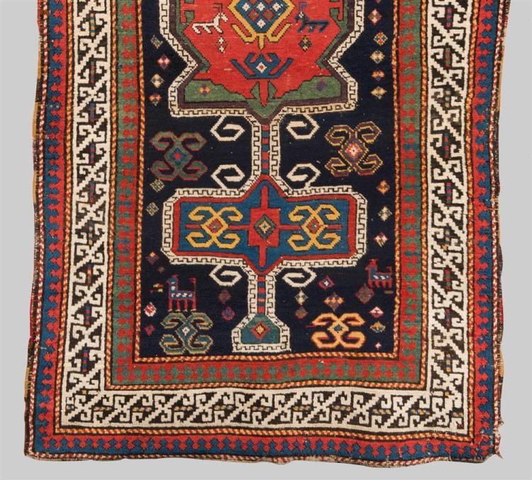KAZAK RUG, Caucasus, second half 19th century; 6 ft. 9 in. x 3 ft. 8 in.