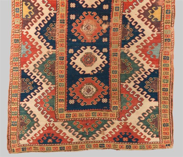 BORDJALOU KAZAK RUG, Caucasus, mid 19th century; 7 ft. x 4 ft. 11 in.