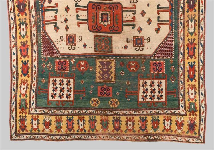 KARACHOPH KAZAK RUG, Caucasus, early 19th century; 7 ft. 5 in. x 5 ft. 8 in.