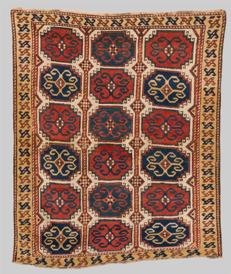 MOGHAN RUG, Caucasus, first half 19th century; 6 ft. 3 in. x 5 ft. 2 in.