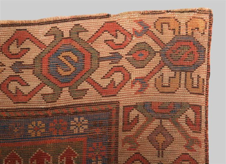 SOUTH CAUCASIAN RUG, mid 19th century; 8 ft. 3 in. x 3 ft. 1 in.