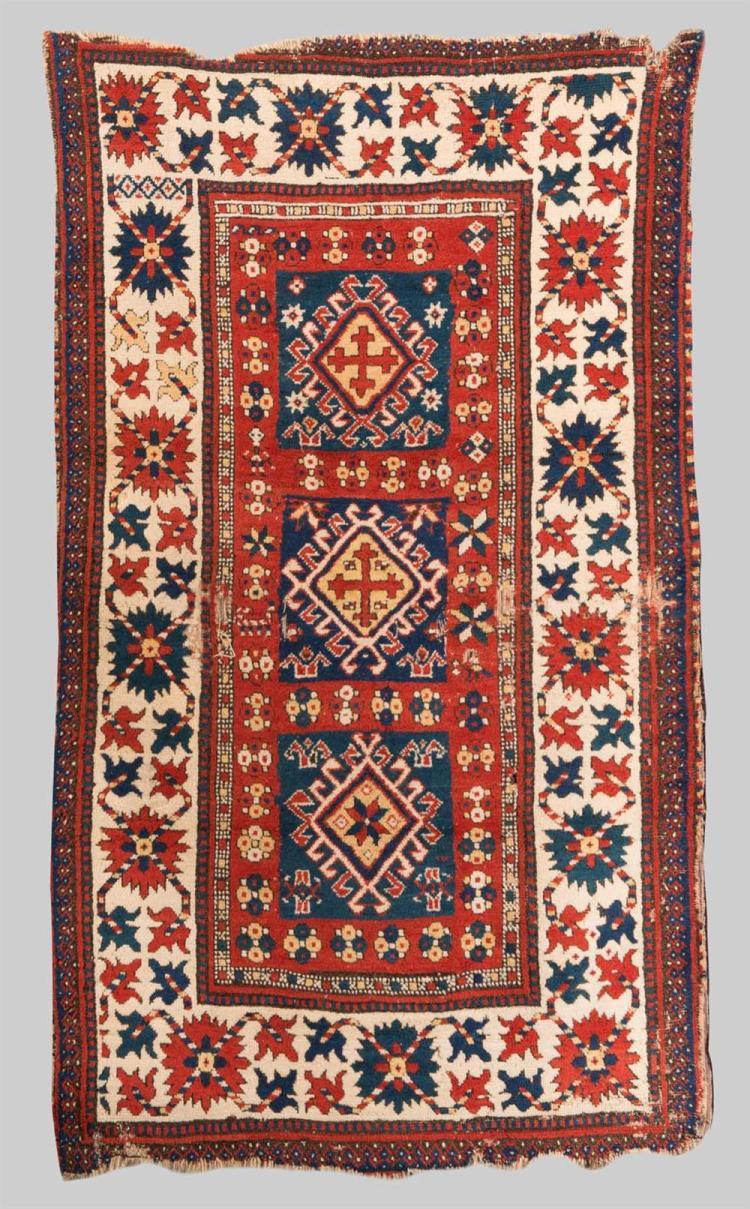 KAZAK RUG, Caucasus, second half 19th century; 6 ft. 2 in. x 3 ft. 6 in.