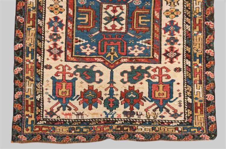 SHIRVAN RUG, Caucasus, first half 19th century; 3 ft. 9 in. x 2 ft. 9 in.