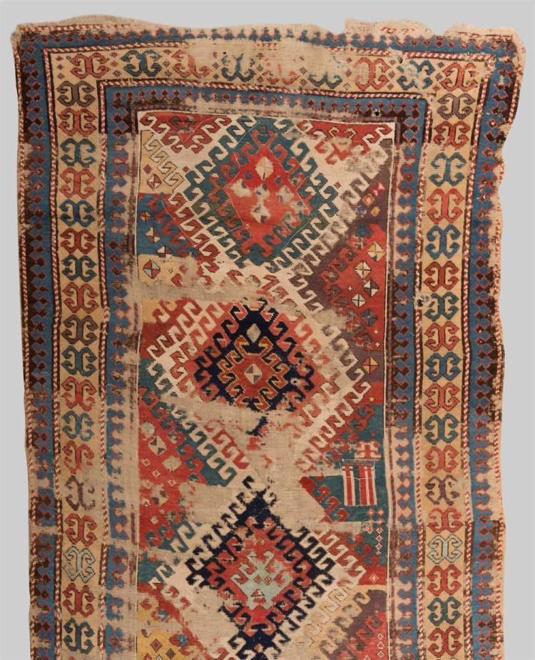 BORDJALOU KAZAK RUG, Caucasus, early 19th century; 8 ft. 9 in. x 4 ft. 3 in.
