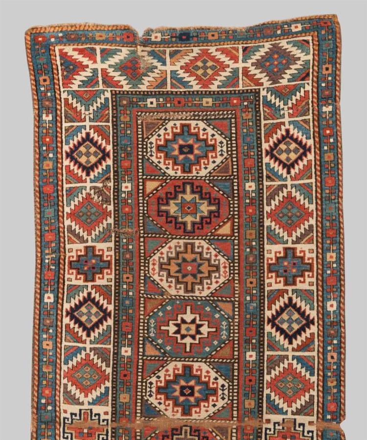 MOGHAN RUG, Caucasus, second half 19th century; 8 ft. 4 in. x 3 ft. 7 in.