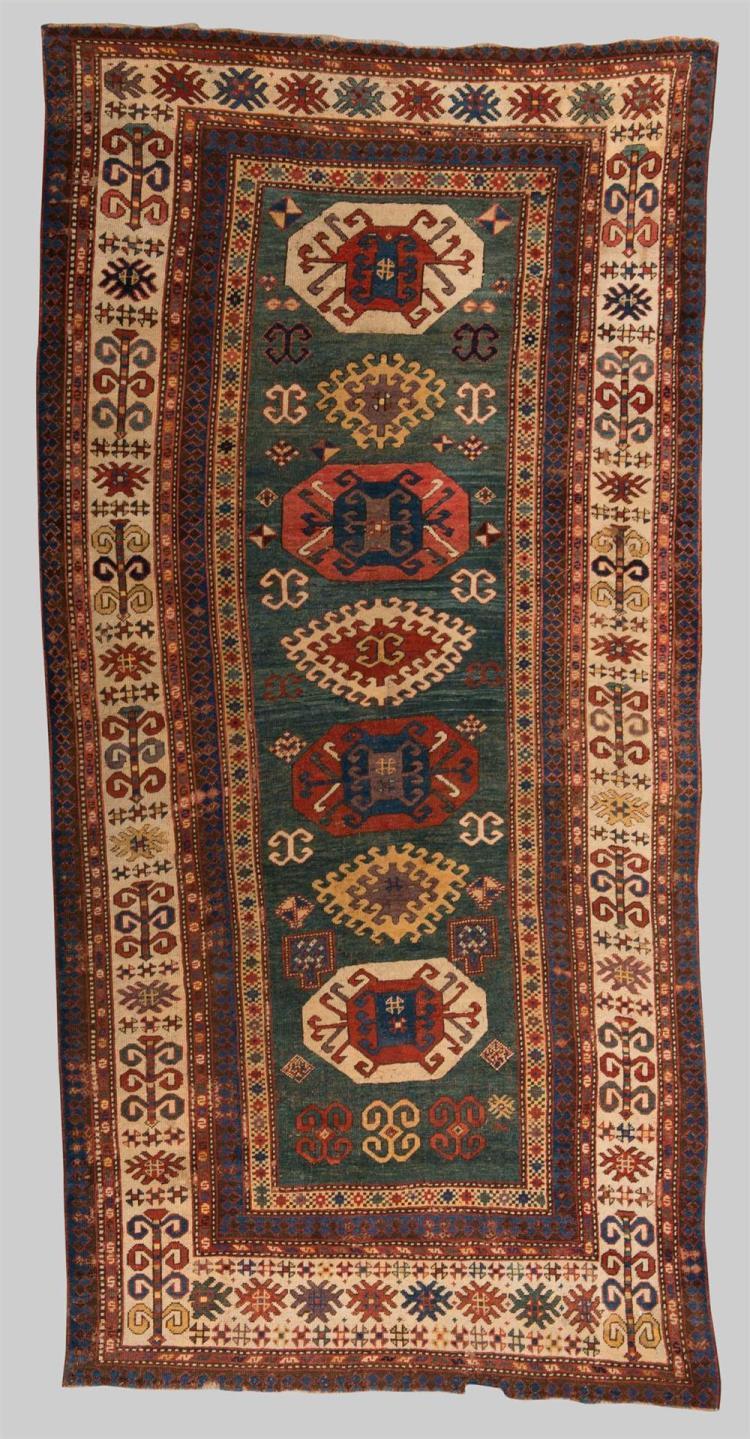 KAZAK RUG, Caucasus, second half 19th century; 8 ft. 10 in. x 4 ft. 2 in.