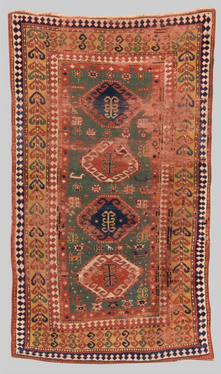 KAZAK RUG, Caucasus, mid 19th century; 7 ft. 8 in. x 4 ft. 6 in.