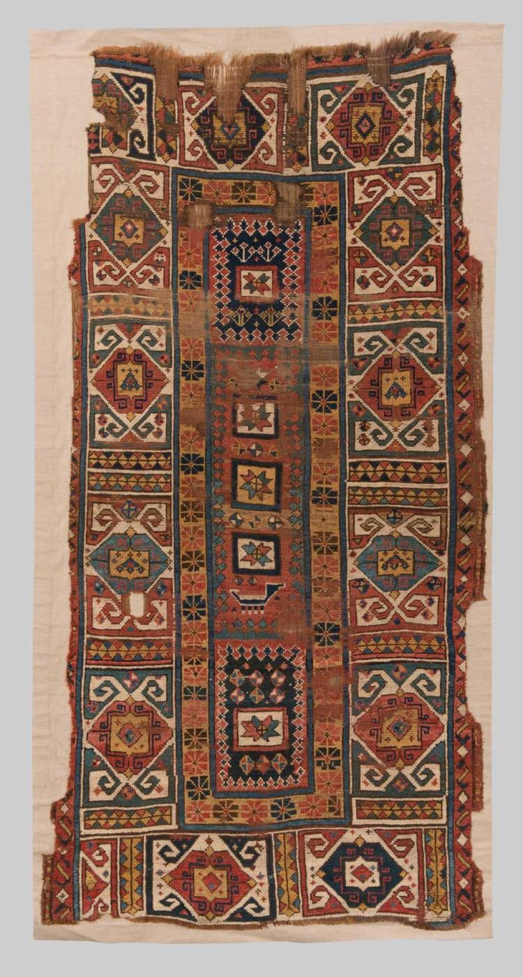 SOUTH CAUCASIAN RUG, Caucasus, early 19th century; 8ft. 1 in. x 4 ft. 1 in.
