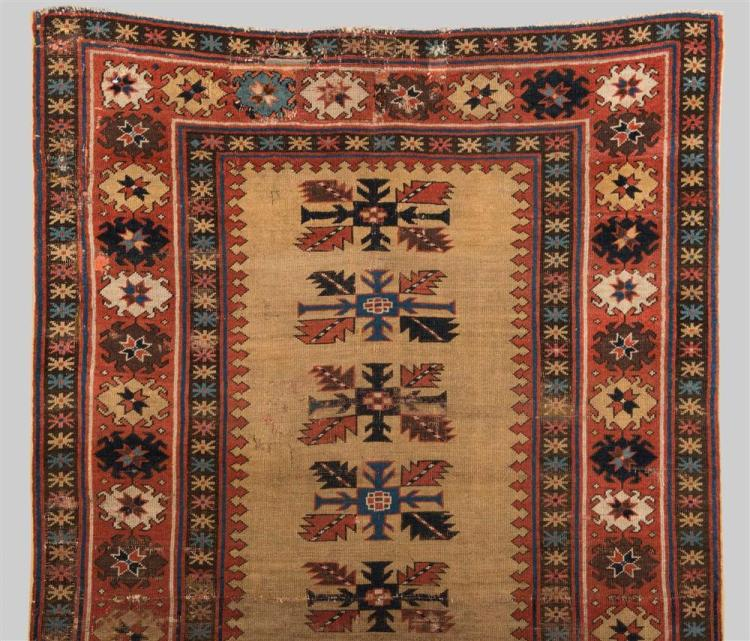 SHIRVAN RUG, Caucasus, early 19th century; 5 ft. 11 in. x 3 ft. 7 in.