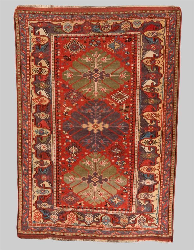 MELAS RUG, Turkey, second half 19th century; 5 ft. 7 in. x 3 ft. 9 in.