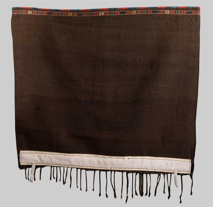 CAUCASIAN EMBROIDERED BAG, second half 19th century; 3 ft. 2 in. x 2 ft. 9 in.