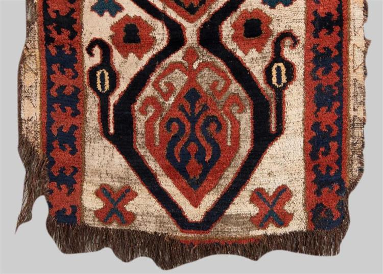 CENTRAL ASIAN RUG, late 19th; 3 ft. 7 in. x 3 ft. 1 in.