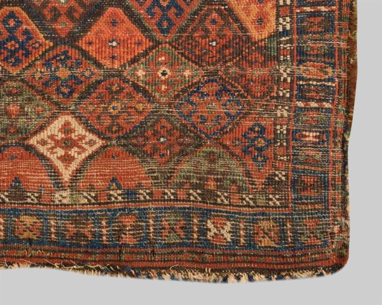 TWO JAF KURD BAG FACES; one: Persia, ca. 1900, 2 ft. 1 in. x 1 ft. 8 in.; the other: Persia, 1 ft. 4 in. x 2 ft. 1 in.