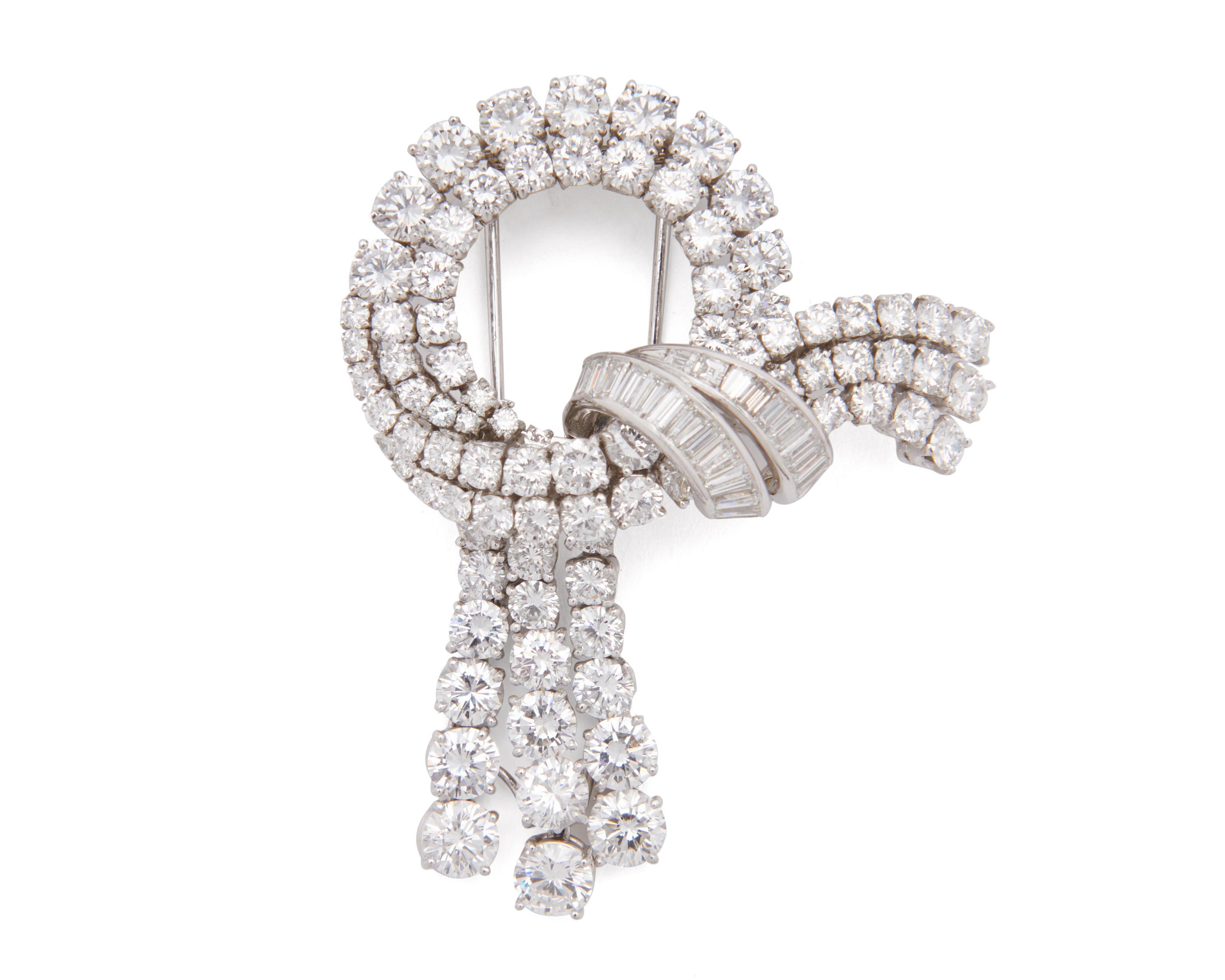 VAN CLEEF & ARPELS Platinum and Diamond Brooch