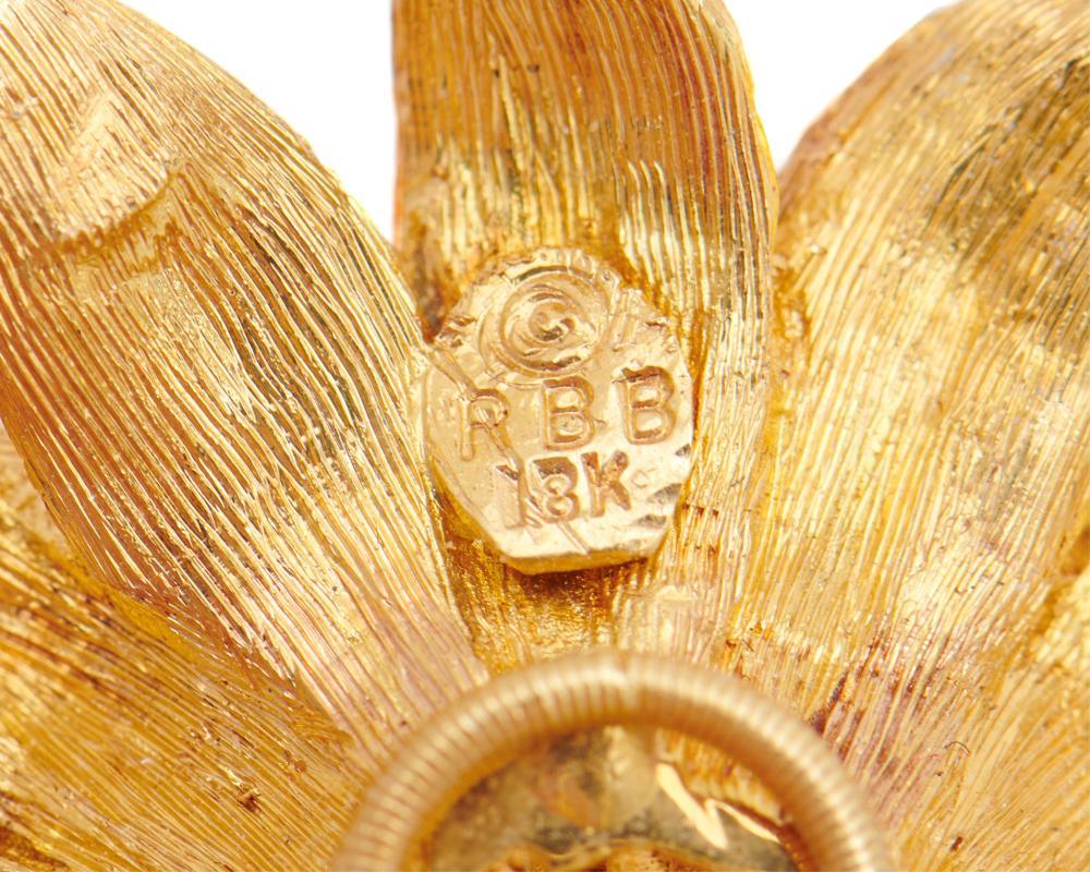 ROBERT BRUCE BIELKA 18K Gold Earclips