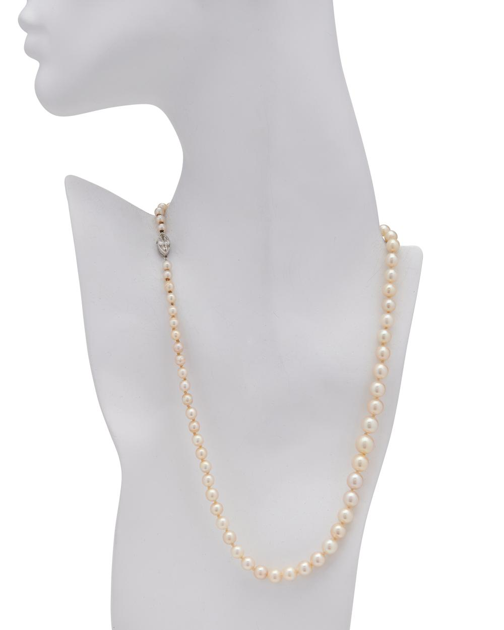 J.E. CALDWELL & CO. Natural Pearl and Diamond Necklace