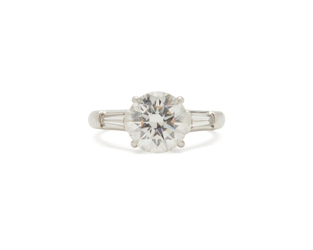 TIFFANY & CO. Platinum and Diamond Ring and Band