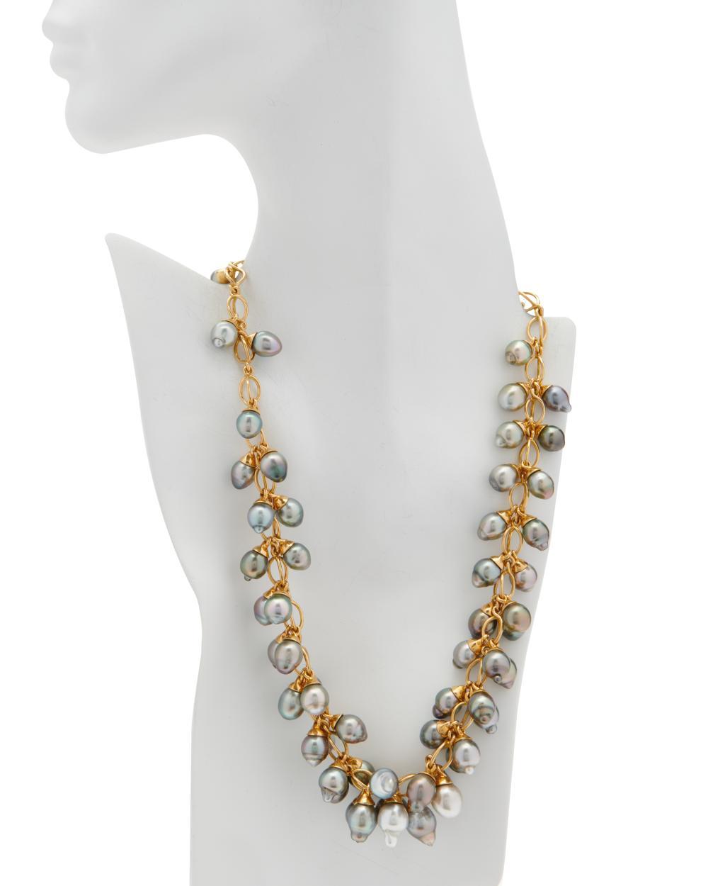 TAMARA COMOLLI 18K Gold, Tahitian Pearl, and Diamond