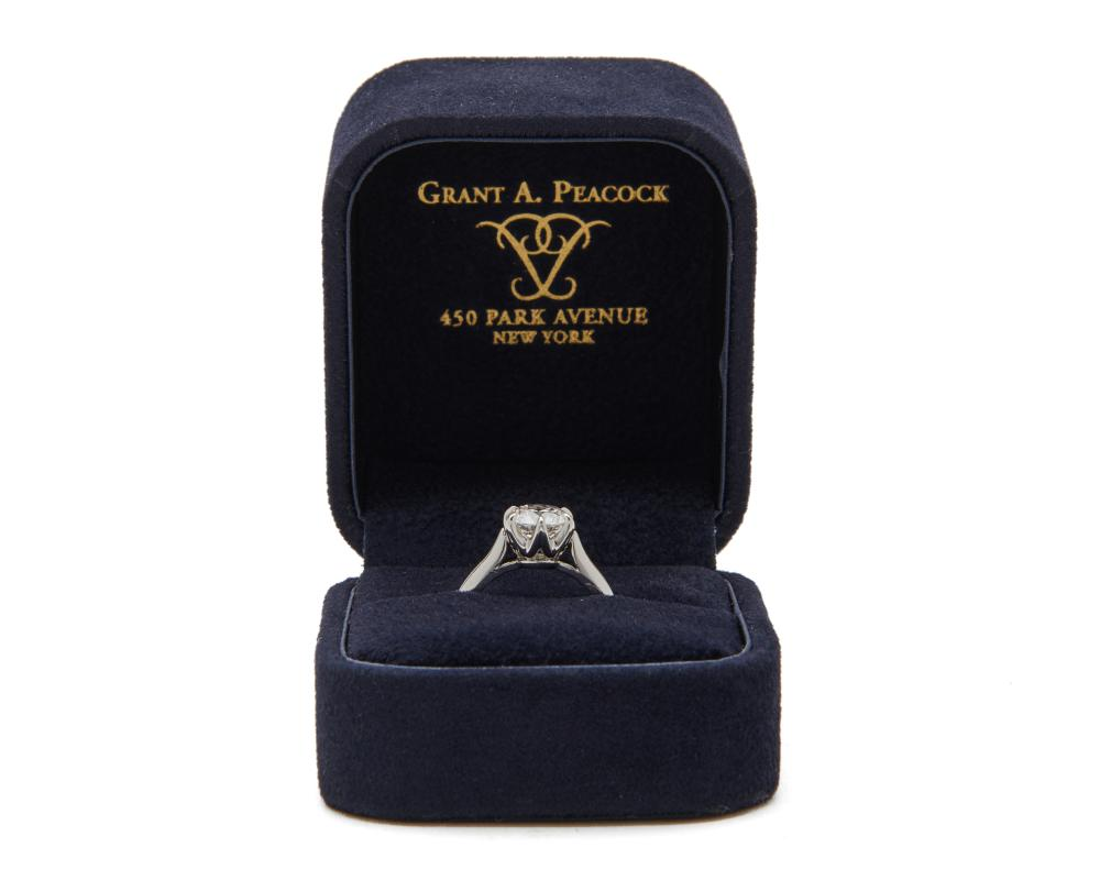 GRANT A. PEACOCK Platinum and Diamond Ring