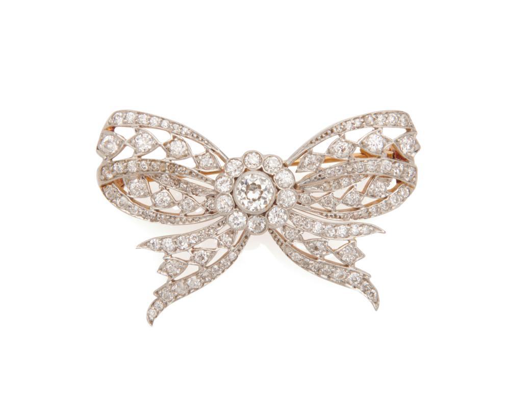 TIFFANY & CO. Diamond Bow Brooch