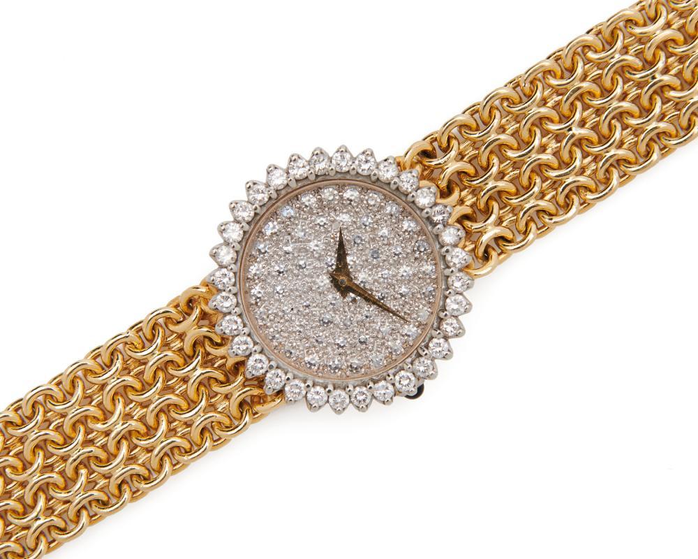 BAUME & MERCIER 18K Gold and Diamond Wristwatch