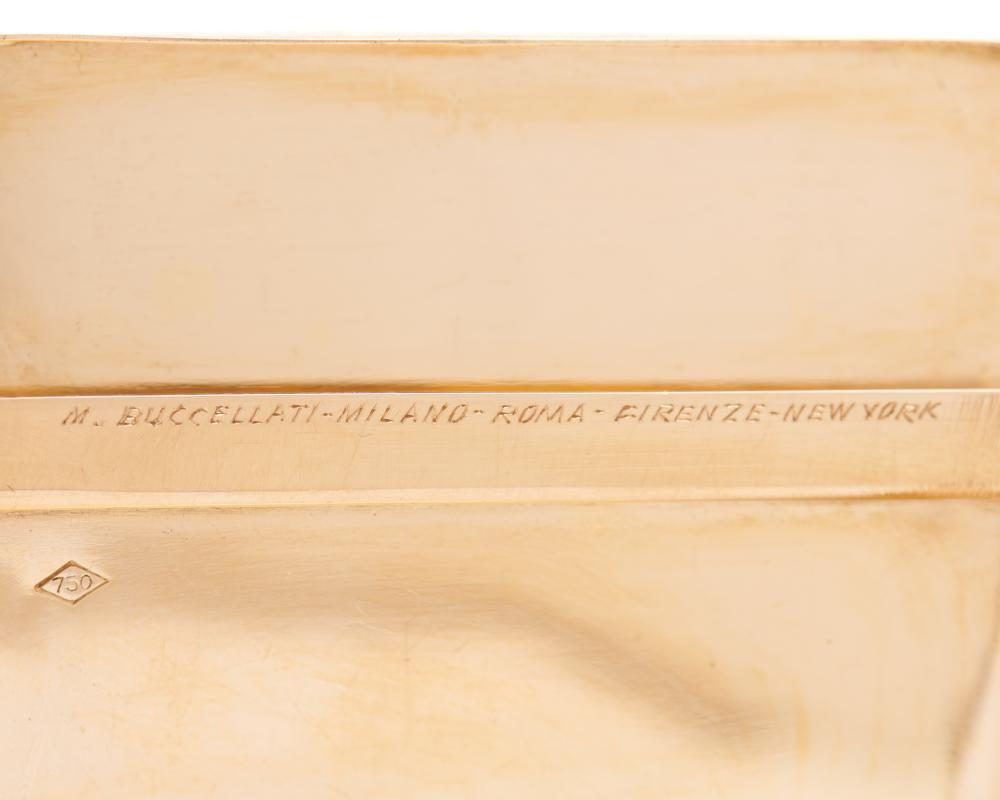 BUCCELLATI 18K Gold Cigarette Case