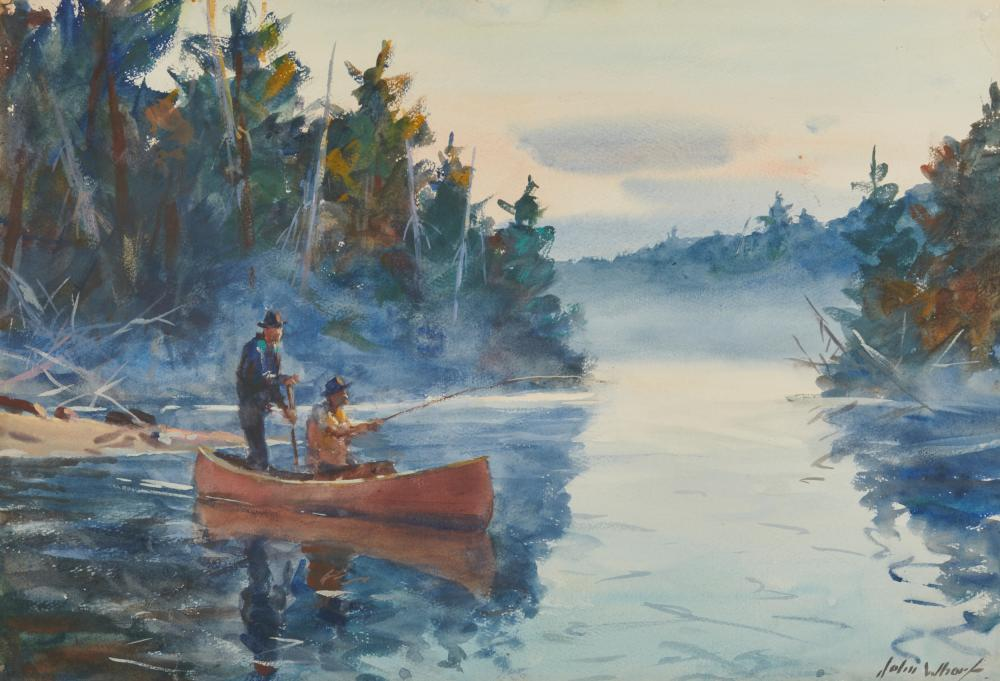 JOHN WHORF, (American, 1903-1959), Morning Mist II, watercolor on paper, sheet: 15 1/4 x 22 1/2 in., frame: 24 x 30 1/2 in.