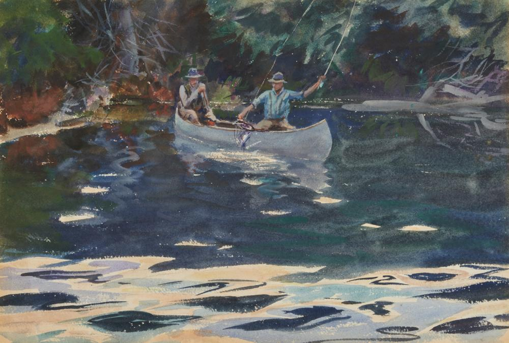 JOHN WHORF, (American, 1903-1959), In The Shadows, watercolor on paper, sheet: 15 1/4 x 22 1/2 in.; frame: 24 1/4 x 31 1/4 in.