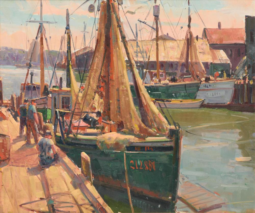 CARL WILLIAMS PETERS, (American, 1897-1980), Harbor View, oil on canvas, 25 x 30 in., frame: 33 x 37 3/4 in.