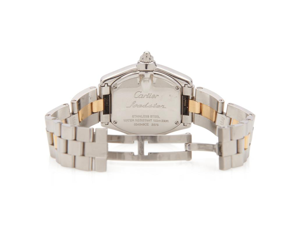 CARTIER Stainless Steel and 18K Gold 'Roadster' Wristwatch