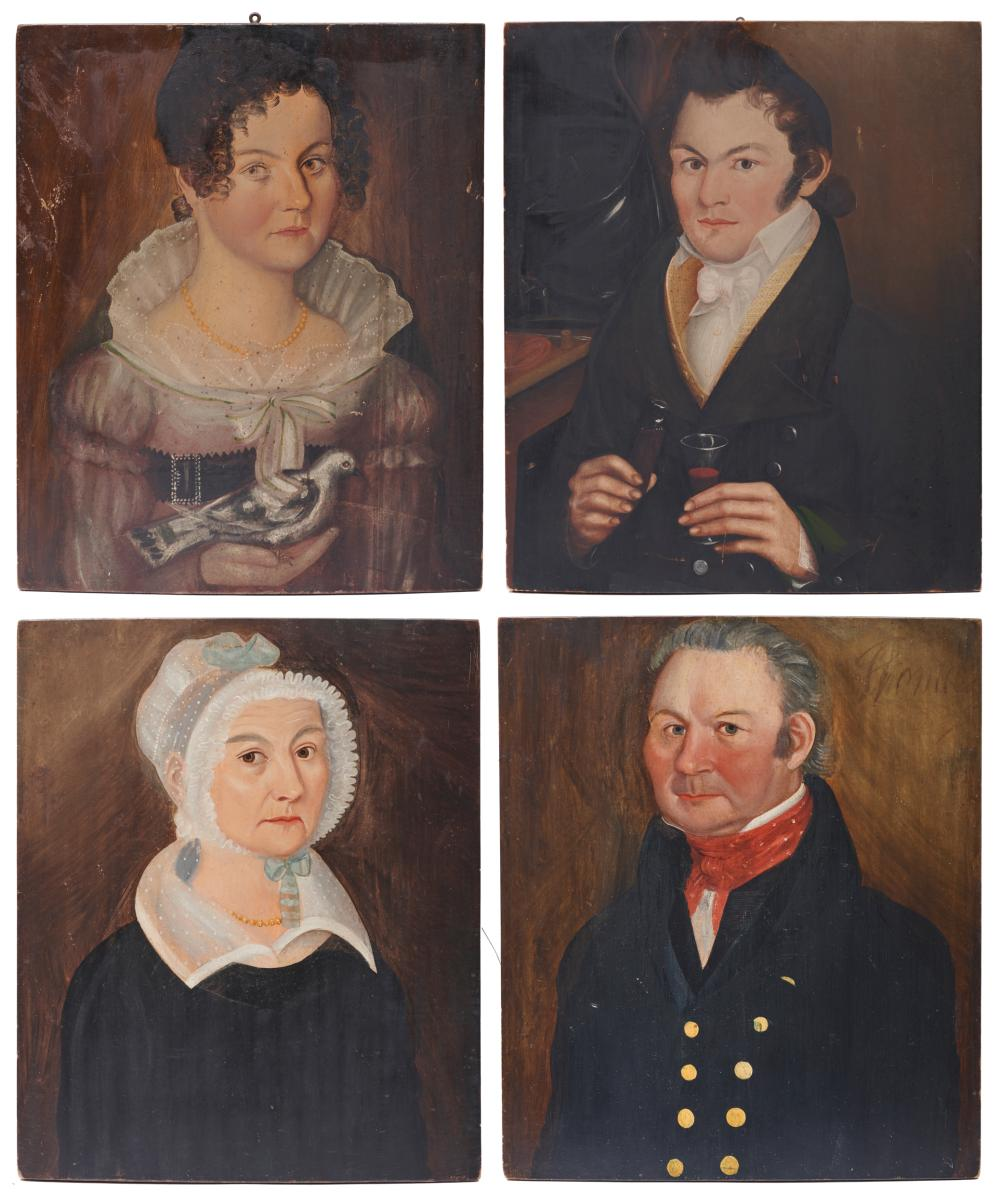 THOMAS WARE, (American, 1803-1836), Four Portraits of the Marcy Family