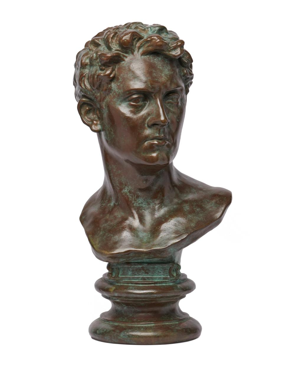 OLIN LEVI WARNER, (American, 1844-1896), Julian Alden Weir, 1880, bronze, height: 22 in.