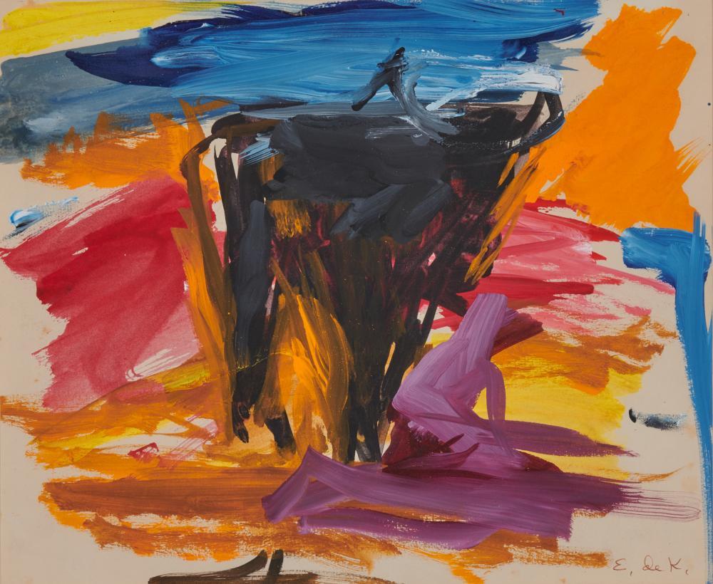 ELAINE FRIED DE KOONING, (American, 1918-1989), Theme of the Bull #14, 1959, oil on paper, sheet: 11 x 13 5/16 in., frame: 18 3/8 x 20 1/2 in.