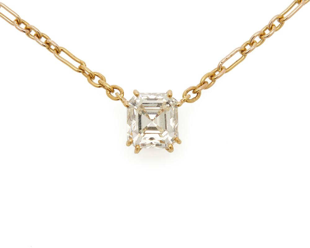 18K Gold and Diamond Pendant Necklace